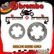 BRDISC-2156 KIT DISCHI FRENO BREMBO TGB X-MOTION 2010- 300CC [ANTERIORE+POSTERIORE] [FISSO/FISSO]