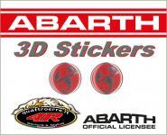 21538 ADESIVO 3D STICKERS 2 SCORPIONI ABARTH D.12MM