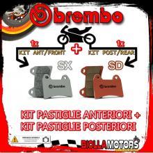 BRPADS-25688 KIT PASTIGLIE FRENO BREMBO CCM RS 2001- 600CC [SX+SD] ANT + POST