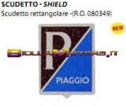 142720430 TARGHETTINA PIAGGIO RETTANGOLARE ''VESPA''