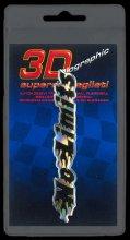 396 ADESIVO 3D SYMBOL SUPERDETTAGLIATO - NO LIMITS NERO