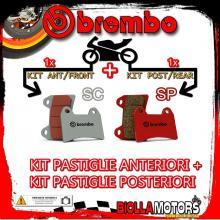 BRPADS-46593 KIT PASTIGLIE FRENO BREMBO BUELL S3T THUNDERBOLT 2001- 1200CC [SC+SP] ANT + POST