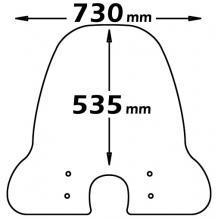 CLS342+A/716/A/714 PARABREZZA ISOTTA PROTEZIONE CLASSIC X PIAGGIO LIBERTY 4T 2004-09