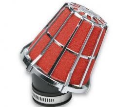 047593.K0 FILTRO ARIA RED FILTER E5 CON D.38 PER CARBURATORI PHVA / PHBN 30÷36 - MIKUNI CROMATO