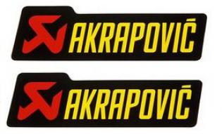 16573 STICKERS PER ALTE TEMPERATURE AKRAPOVIC