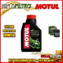 KIT TAGLIANDO 1LT OLIO MOTUL 5100 10W50 GILERA 125 DNA 125CC 2001-2003 + FILTRO OLIO HF183