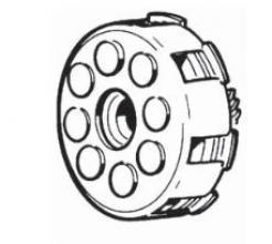 1174731 FRIZIONE COMPLETA VESPA P125X-P150X DAL 1983-VESPA PX150E (SERIE ARCOBALENO)