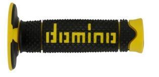 A26041C4740A7-0 MANOPOLE DOMINO NERO/GIALLO UNIVERSALI PER MOTO CROSS OFF ROAD