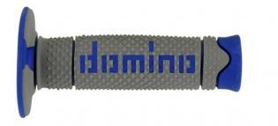 A26041C4852A7-0 MANOPOLE DOMINO GRIGIO/BLU UNIVERSALI PER MOTO CROSS OFF ROAD