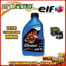 KIT TAGLIANDO 5LT OLIO ELF MOTO 4 SBK 10W40 HONDA NRX1800 Valkyrie Rune 1800CC 2004-2005 + FILTRO OLIO HF204