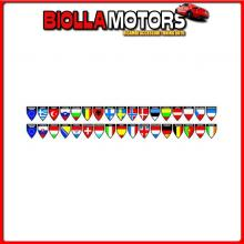 98119 LAMPA DECOR-FLAGS 2 IN1 - SET 4 - 17X2 BANDIERE