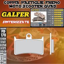 FD178G1370 PASTIGLIE FRENO GALFER SINTERIZZATE ANTERIORI YAMAHA XP 500 T-MAX ABS 08-