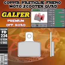FD224G1805 PASTIGLIE FRENO GALFER PREMIUM ANTERIORI MACBOR 510 RACING 04-