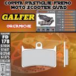 FD178G1054 PASTIGLIE FRENO GALFER ORGANICHE ANTERIORI YAMAHA XP 500 T-MAX ABS 08-