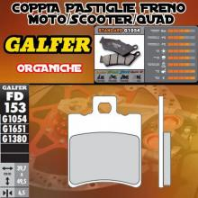 FD153G1054 PASTIGLIE FRENO GALFER ORGANICHE ANTERIORI HONDA SGX 50 SKY 97-