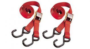 TIE2AUTO Fissaggio a STRAP (2 pezzi, blocco automatico, rosso) 1.8 25MM