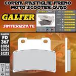FD367G1375 PASTIGLIE FRENO GALFER SINTERIZZATE ANTERIORI KYMCO XCITING 400 12-