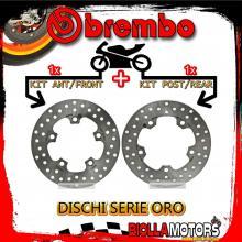 BRDISC-2148 KIT DISCHI FRENO BREMBO SYM HD EVO 2011- 200CC [ANTERIORE+POSTERIORE] [FISSO/FISSO]