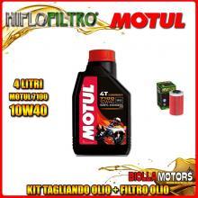KIT TAGLIANDO 4LT OLIO MOTUL 7100 10W40 KTM 640 Duke 1st Oil Filter 640CC 1999-2006 + FILTRO OLIO HF155