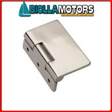 0453012 CERNIERA A FILO INOX LUX 65X55 Cerniera a Filo Slim Eccentrica M