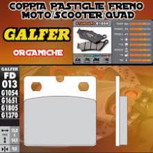 FD013G1054 PASTIGLIE FRENO GALFER ORGANICHE POSTERIORI INDIAN MOTORCYCLE CHIEF BLACKHAWK DARK 11-