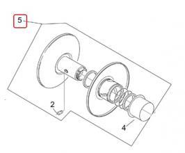 AP5RMR000243 PULEGGIA SECONDARIA MOBILE COMPLETA ORIGINALE APRILIA SR 50 H2O (Ditech+Carb.) 2000-04