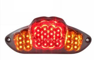 STR-656.04/CE FANALINO STOP STR8 BLACK-LINE LED, INCL. FRECCE, GILERA RUNNER DAL 08/2005, OMOLOGATO