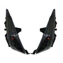 77206378N COPPIA FRECCE ANT. BLACK/TRASP. T-MAX 2008