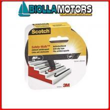 3324650 3M STRISCIA SAFETY-WALK 25MMX4.5M BLACK Strips Antiscivolo 3M Safety-Walk Blister