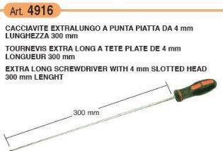 4916 CACCIAVITE EXTRALUNGO A PUNTA PIATTA 300MM
