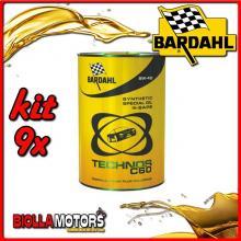 KIT 9X LITRO OLIO BARDAHL TECHNOS 5W40 C60 M-SAPS 1LT - 9x 314040