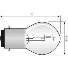 E0377327 LAMPADA PHILIPS BILUX 12V 35/ 35W BA20D