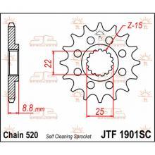 JTF1901.13SC PIGNONE IN ACCIAIO JT BETA RR 250 2013-2017 Passo 520 - 13 denti