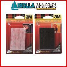 3215021 3M DUAL LOCK VELCRO BSTER 25X76MM NERO Striscie Richiudibili 3M Dual Lock Blister