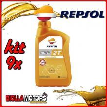 KIT 9X LITRO OLIO REPSOL MOTO COMPETICION 2T 1LT - 9x RP146Z51IT