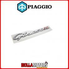 """656235 TARGHETTA ADESIVA """"GTS 250 IE """" PER FIANCATA PIAGGIO VESPA GTS 250"""