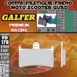 FD178G1651 PASTIGLIE FRENO GALFER PREMIUM ANTERIORI YAMAHA XP 500 T-MAX ABS 08-