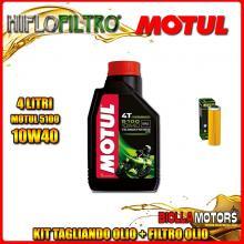 KIT TAGLIANDO 4LT OLIO MOTUL 5100 10W40 KTM 1050 Adventure 1050CC 2015-2016 + FILTRO OLIO HF650