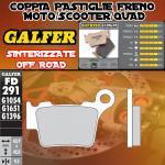 FD291G1396 PASTIGLIE FRENO GALFER SINTERIZZATE POSTERIORI KTM 530 XC SIX DAYS 10-