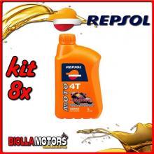 KIT 8X LITRO OLIO REPSOL MOTO RACING 4T 10W40 1LT - 8x RP160N51IT