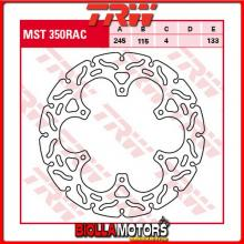 MST350RAC DISCO FRENO POSTERIORE TRW Yamaha WR 125 2002-2007 [RIGIDO - CON CONTOUR]