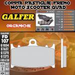 FD107G1054 PASTIGLIE FRENO GALFER ORGANICHE ANTERIORI GAS GAS SM 125 01-04