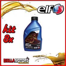 KIT 8X LITRO OLIO ELF MOTO 4 ROAD 15W50 SINTETICO - 8x 201731