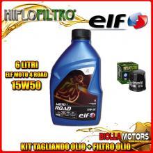 KIT TAGLIANDO 6LT OLIO ELF MOTO 4 ROAD 15W50 KAWASAKI VN2000 A7F Vulcan 2000CC 2007- + FILTRO OLIO HF303