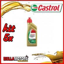 KIT 5X LITRO OLIO CASTROL POWER 1 SCOOTER 4T 5W40 - 5x CA154F88
