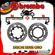 BRDISC-4064 KIT DISCHI FRENO BREMBO KTM ENDURO R 2014- 690CC [ANTERIORE+POSTERIORE] [FLOTTANTE/FLOTTANTE]