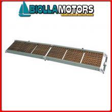 0607525 PASSERELLA PIEG 250 ALU/CARAB Passerella Pieghevole in Alluminio e Carabottino