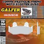 FD284G1054 PASTIGLIE FRENO GALFER ORGANICHE ANTERIORI HONDA FTR 223 00-02