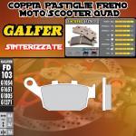 FD103G1371 PASTIGLIE FRENO GALFER SINTERIZZATE POSTERIORI BUELL XB 12 SS LIGHTNING LONG 06-