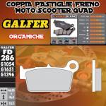 FD286G1054 PASTIGLIE FRENO GALFER ORGANICHE POSTERIORI HM DERAPAGE 2T COMPETICION 11-